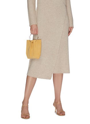 Figure View - Click To Enlarge - THE ROW - 'Flat' ring handle suede micro bag