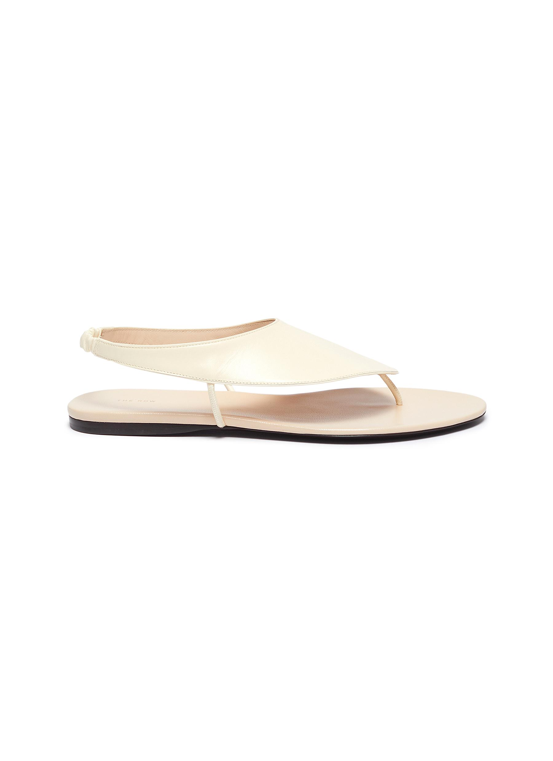 The Row Flats Ravello leather sandals
