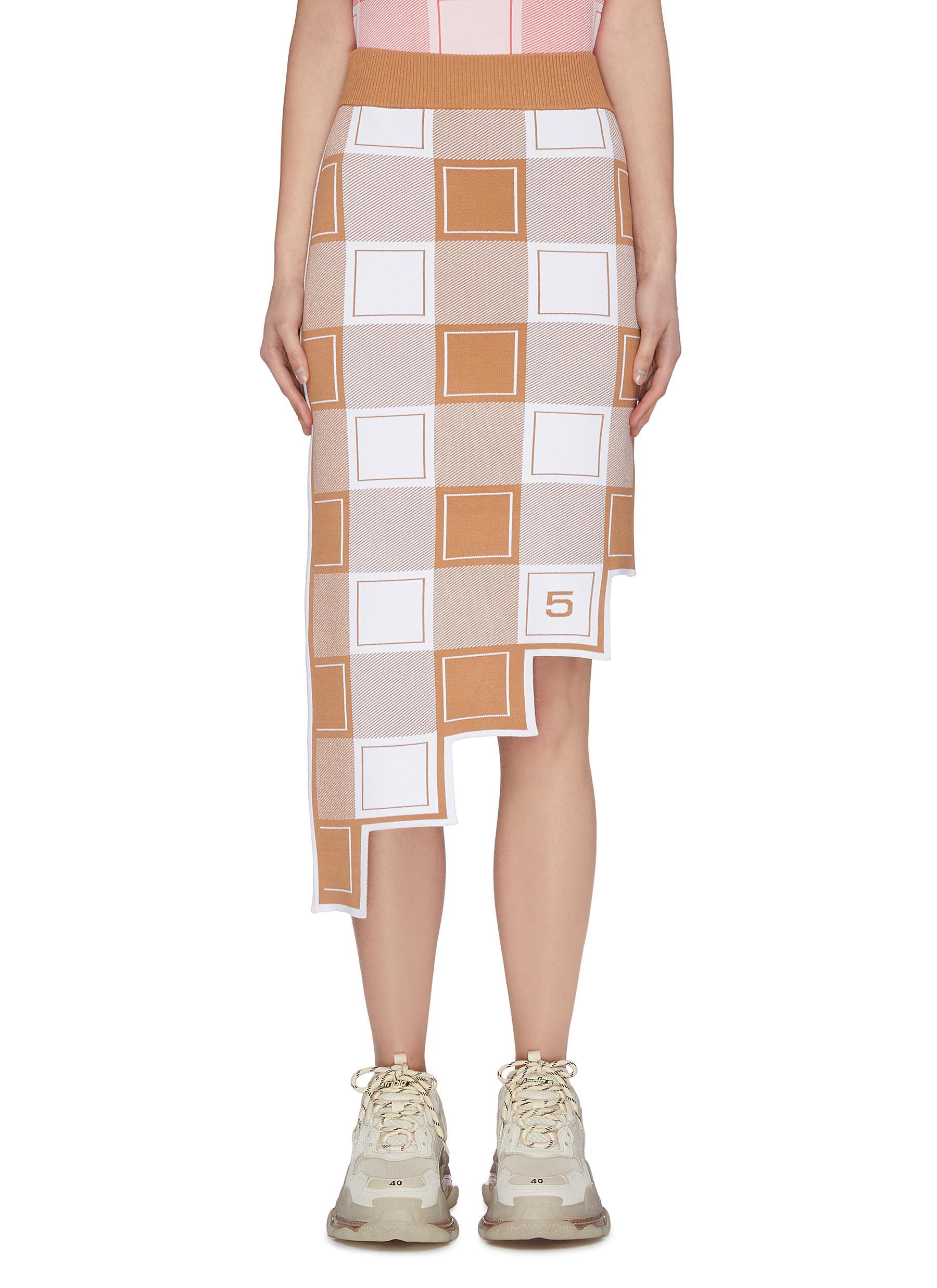 Buy Ph5 Skirts Cambridge' Asymmetric Check Pencil Skirt