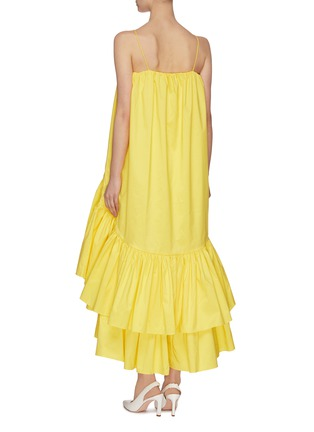 Back View - Click To Enlarge - MING MA - Asymmetric tier ruffle dress