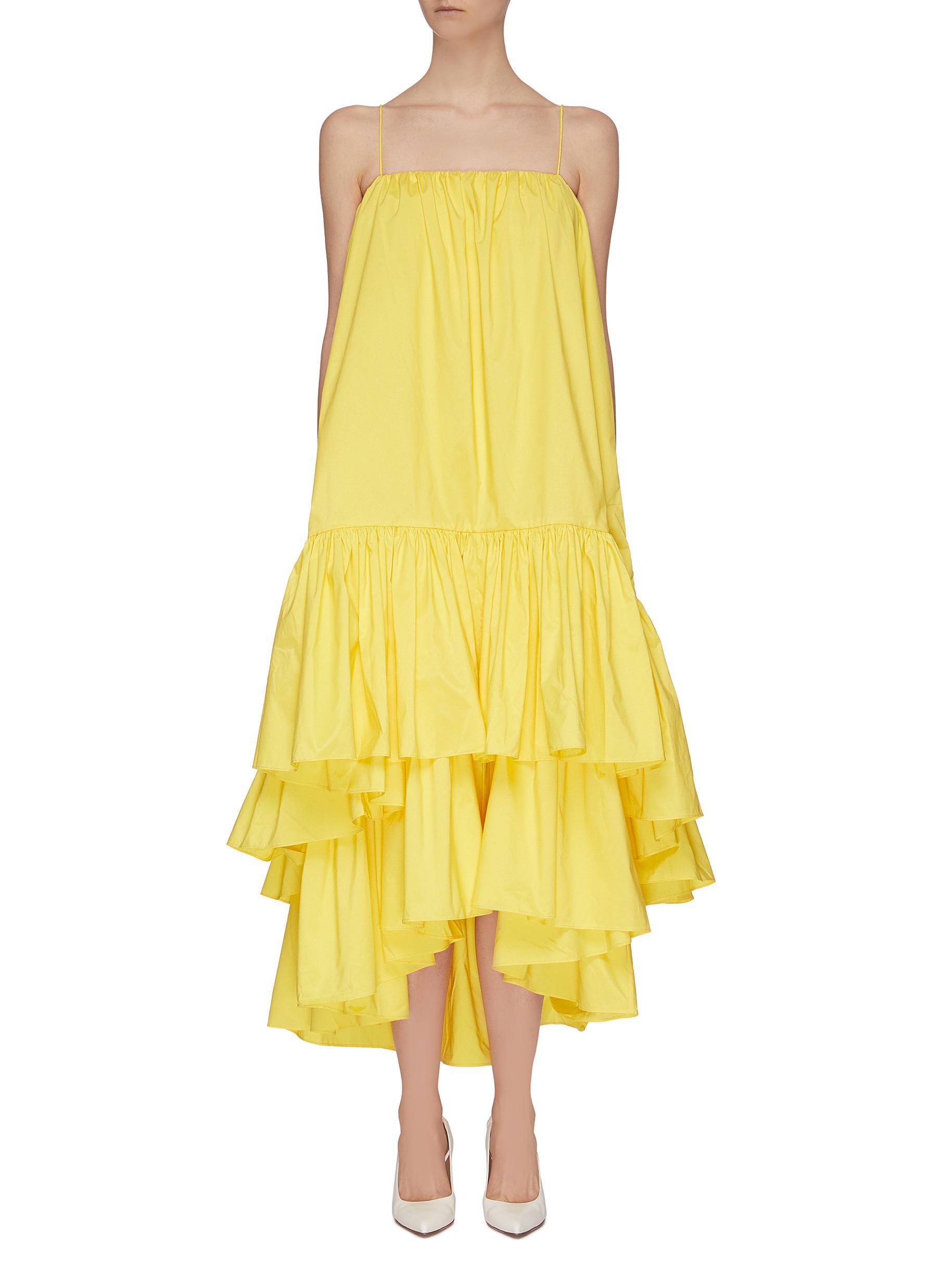 Buy Ming Ma Dresses Asymmetric tier ruffle dress