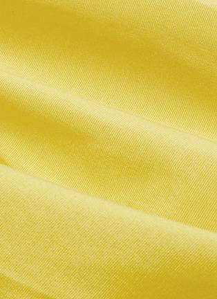 - MING MA - Tie shoulder lantern sleeve ruffle top