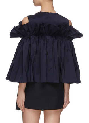 Back View - Click To Enlarge - MING MA - Gathered ruffle top