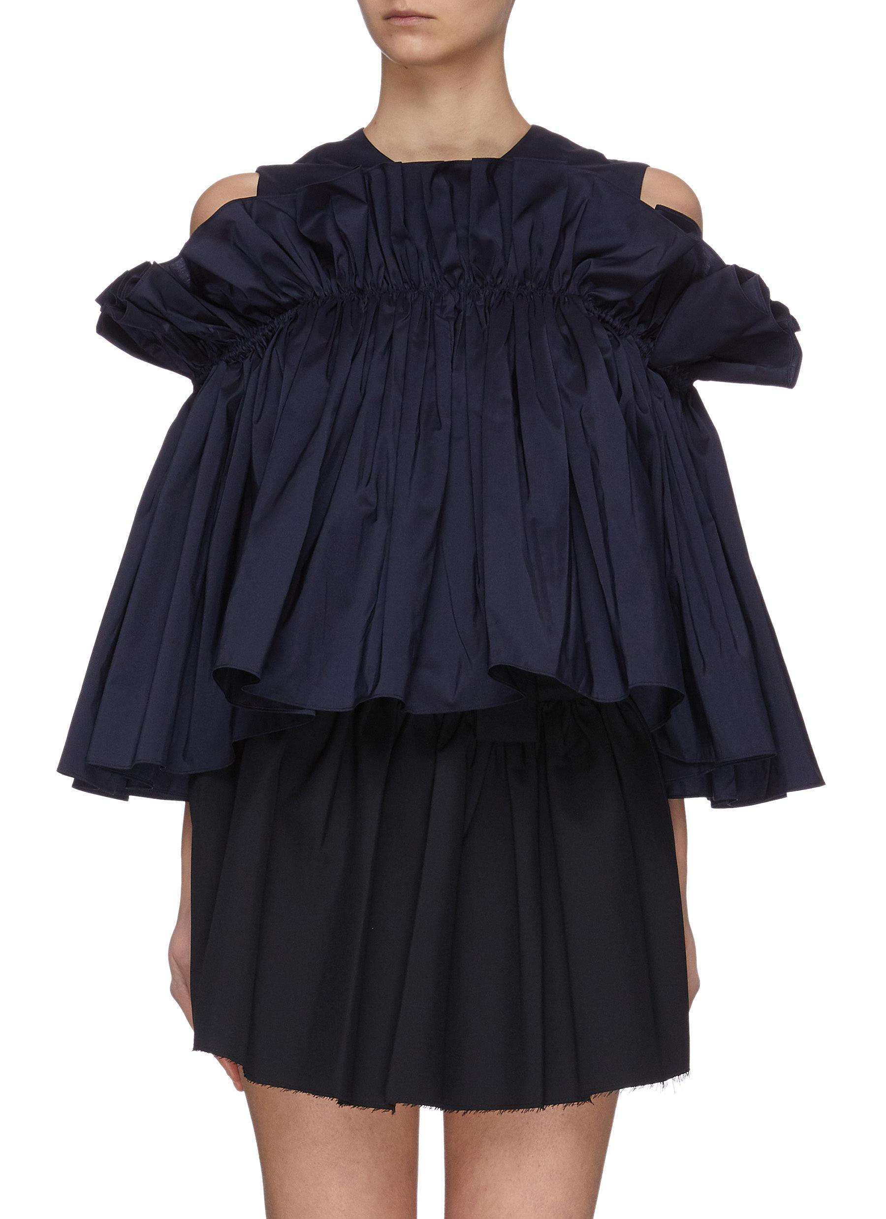 shop Ming Ma Gathered ruffle top online