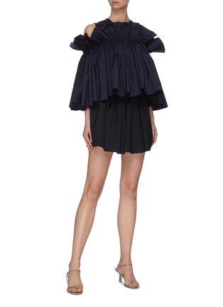 Figure View - Click To Enlarge - MING MA - Gathered ruffle top