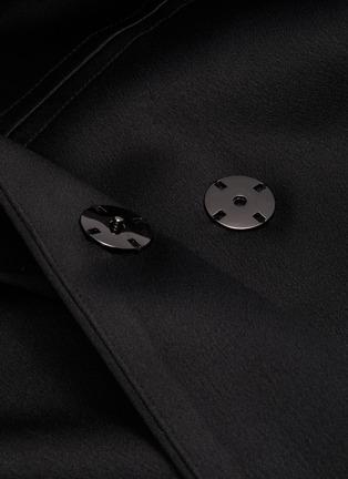 - MING MA - Ruffle Back Crop Jacket