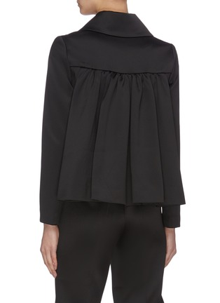 Back View - Click To Enlarge - MING MA - Ruffle Back Crop Jacket