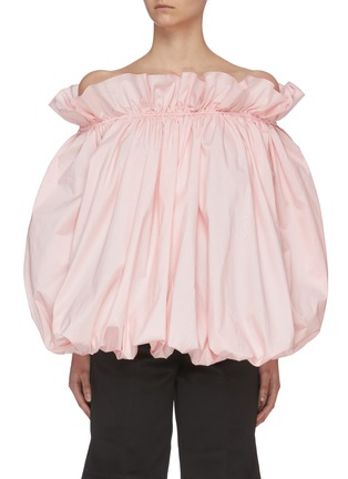 Main View - Click To Enlarge - MING MA - Off Shoulder Bubble Top