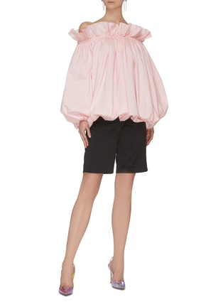 Figure View - Click To Enlarge - MING MA - Off Shoulder Bubble Top