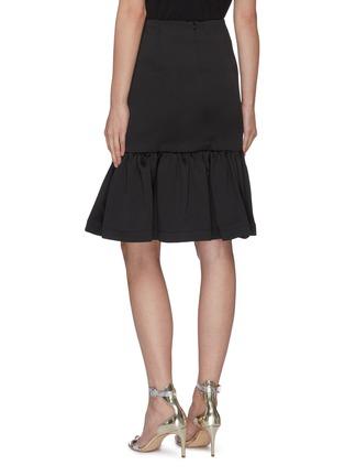 Back View - Click To Enlarge - MING MA - Ruffle Hem Fishtail Skirt