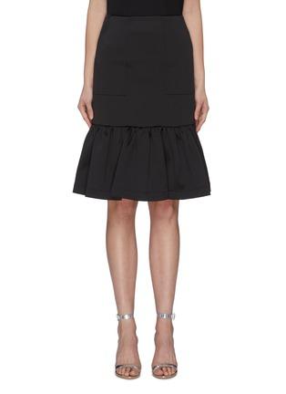 Main View - Click To Enlarge - MING MA - Ruffle Hem Fishtail Skirt
