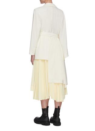 Back View - Click To Enlarge - SANS TITRE - Asymmetric sleeve and hem coat