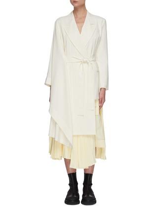 Main View - Click To Enlarge - SANS TITRE - Asymmetric sleeve and hem coat