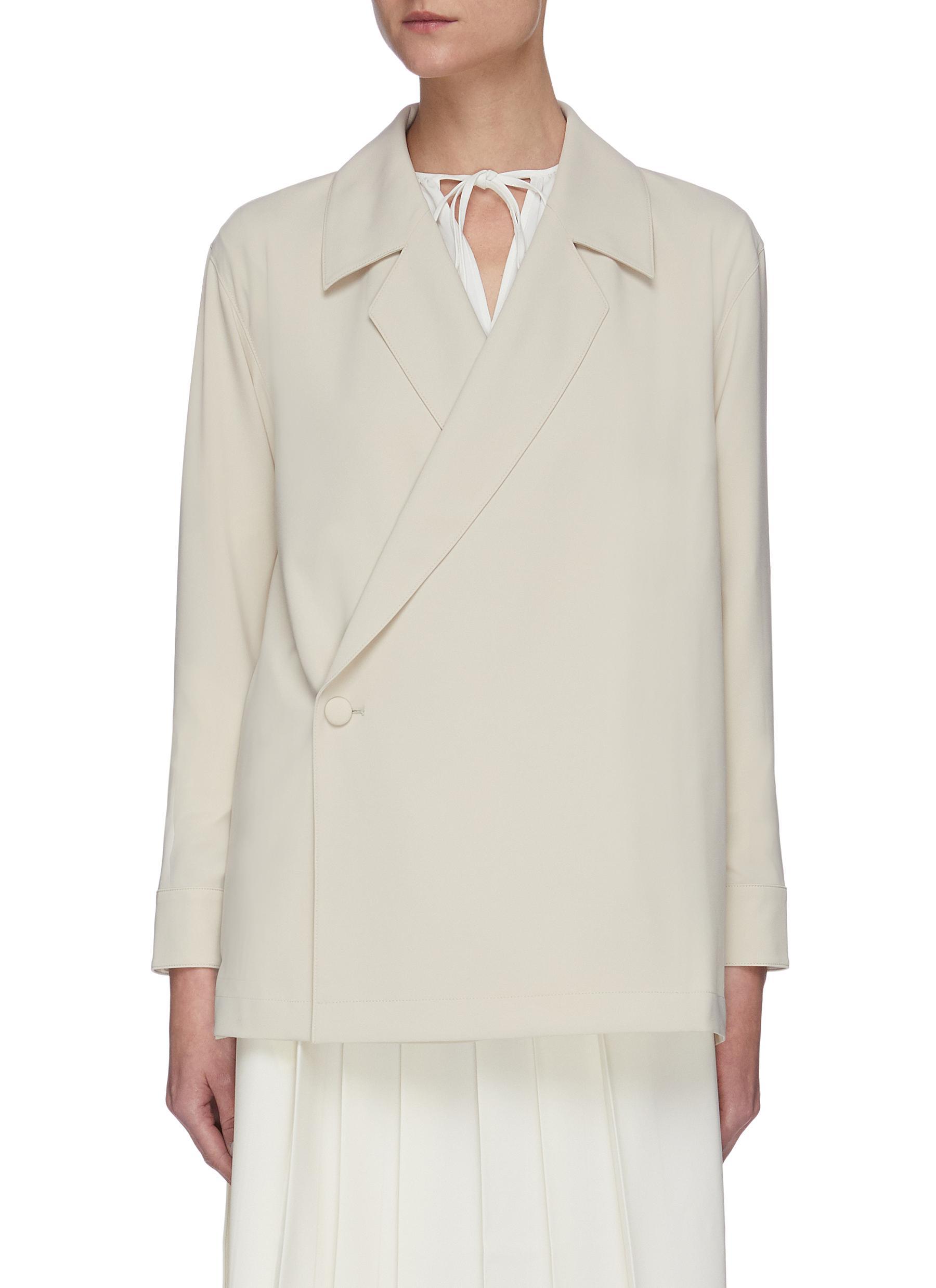 shop Sans Titre Notch lapel shirt jacket online