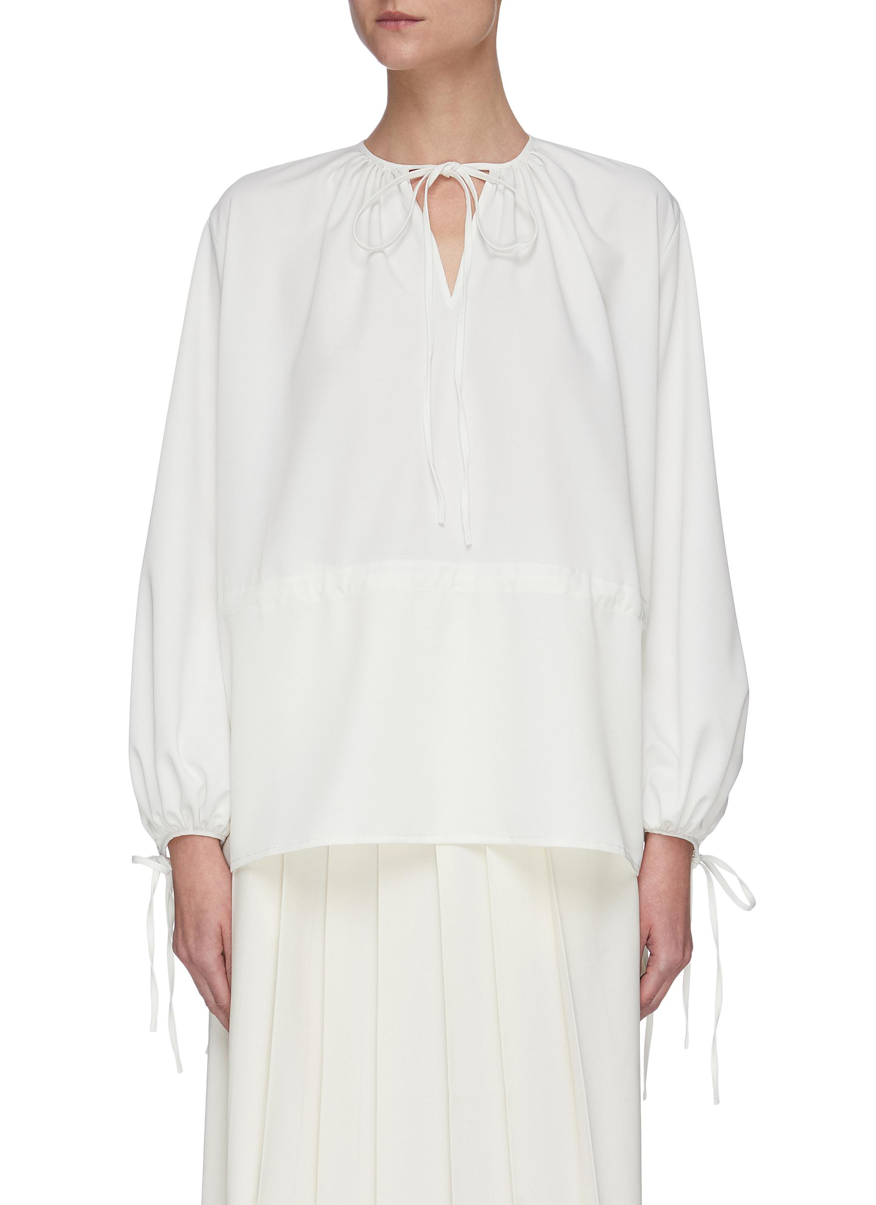 shop Sans Titre Drawstring V-neck blouse online