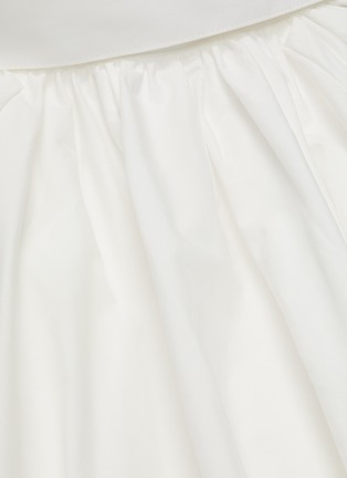 - SANS TITRE - Pleated neck lantern sleeve blouse