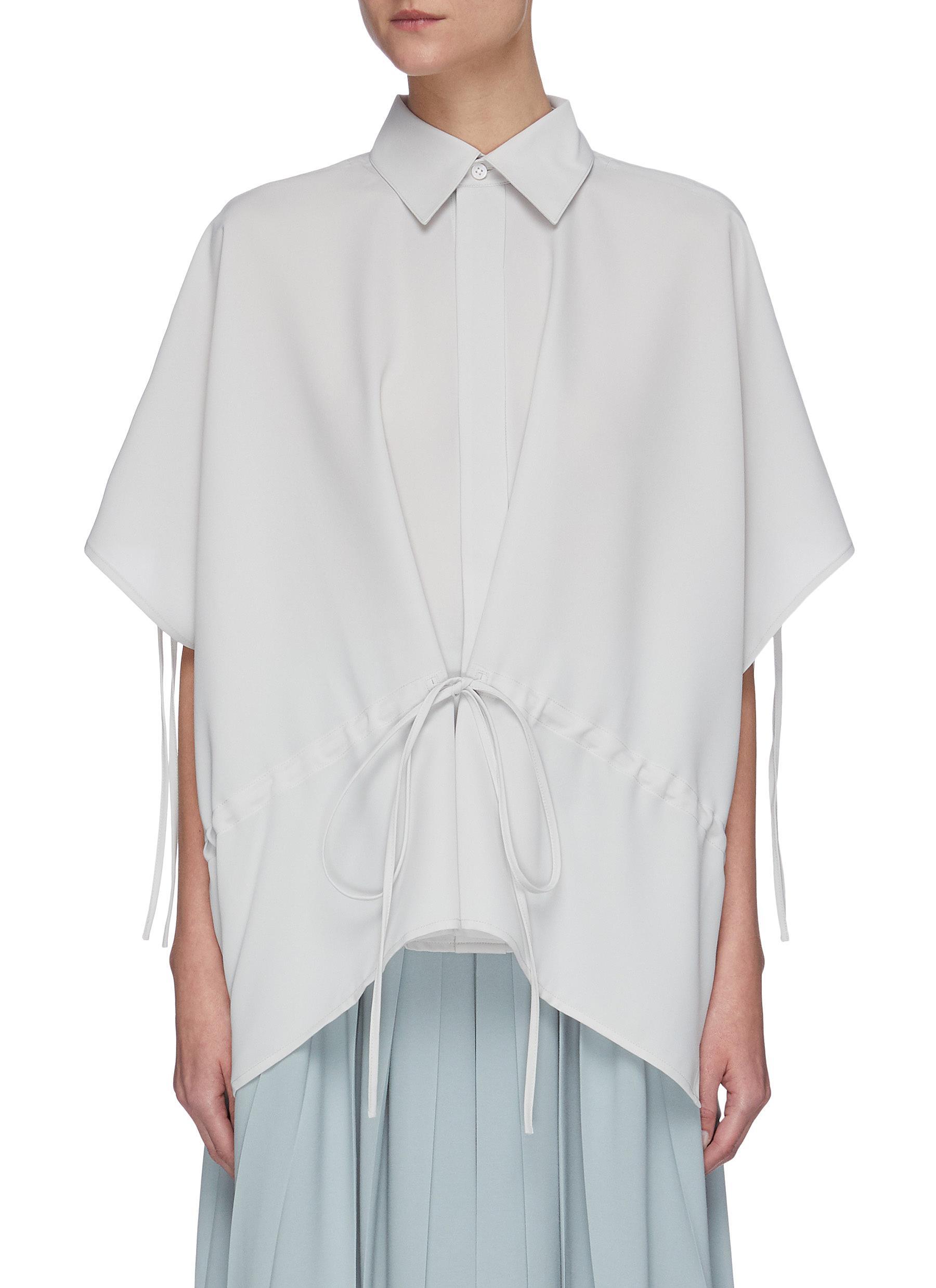 shop Sans Titre Drawstring waist placket shirt online