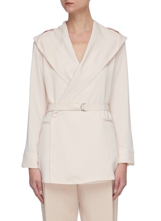 Main View - Click To Enlarge - SANS TITRE - Hooded belted shirt jacket