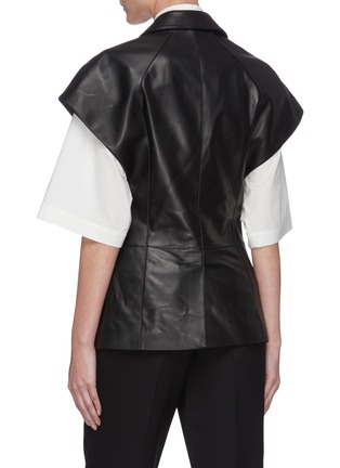 Back View - Click To Enlarge - SANS TITRE - Sleeveless leather vest