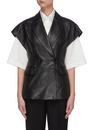 Main View - Click To Enlarge - SANS TITRE - Sleeveless leather vest