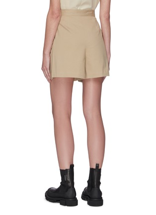Back View - Click To Enlarge - SANS TITRE - Pleated tailored shorts