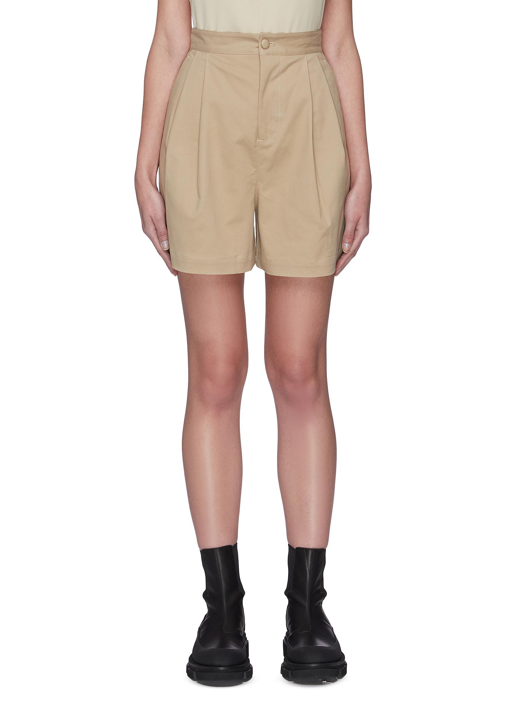 shop Sans Titre Pleated tailored shorts online