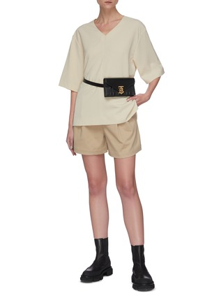 Figure View - Click To Enlarge - SANS TITRE - Pleated tailored shorts