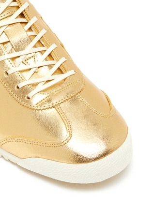 Detail View - Click To Enlarge - ONITSUKA TIGER - 'Mexico 66' lace up metallic leather sneakers