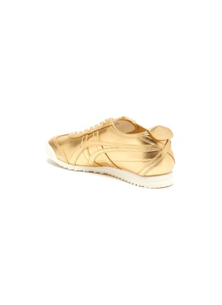 - ONITSUKA TIGER - 'Mexico 66' lace up metallic leather sneakers