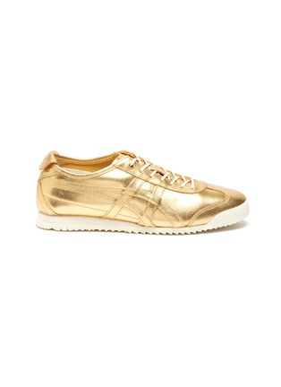 Main View - Click To Enlarge - ONITSUKA TIGER - 'Mexico 66' lace up metallic leather sneakers