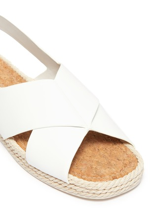 Detail View - Click To Enlarge - VINCE - 'Essen' cross strap slingback leather espadrille sandals