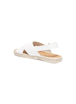 - VINCE - 'Essen' cross strap slingback leather espadrille sandals
