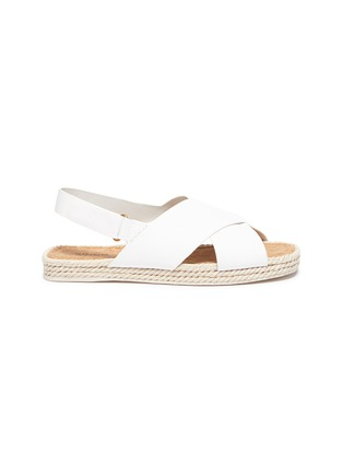 Main View - Click To Enlarge - VINCE - 'Essen' cross strap slingback leather espadrille sandals