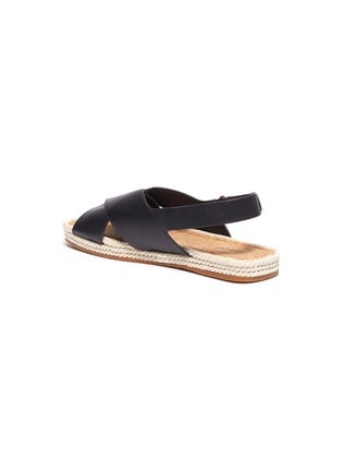 - VINCE - 'Essen' cross strap slingback leather espadrille sandals