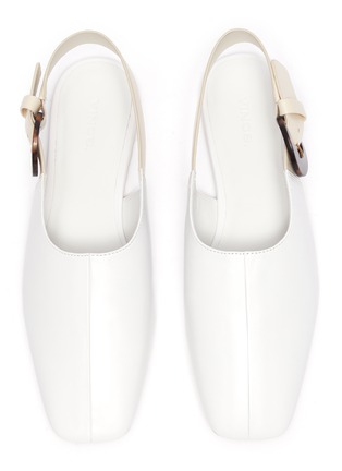 Detail View - Click To Enlarge - VINCE - 'Cadot' acetate buckle slingback leather flats