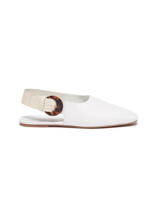 Main View - Click To Enlarge - VINCE - 'Cadot' acetate buckle slingback leather flats