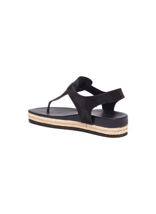 - VINCE - 'Flint' T-Bar suede espadrille sandals