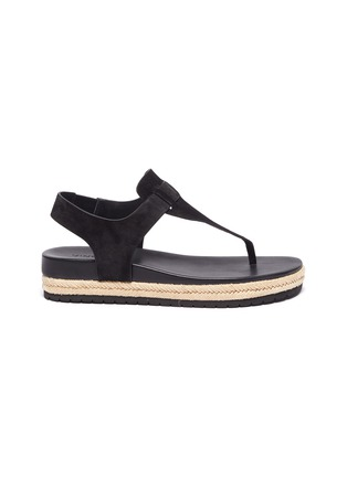 Main View - Click To Enlarge - VINCE - 'Flint' T-Bar suede espadrille sandals