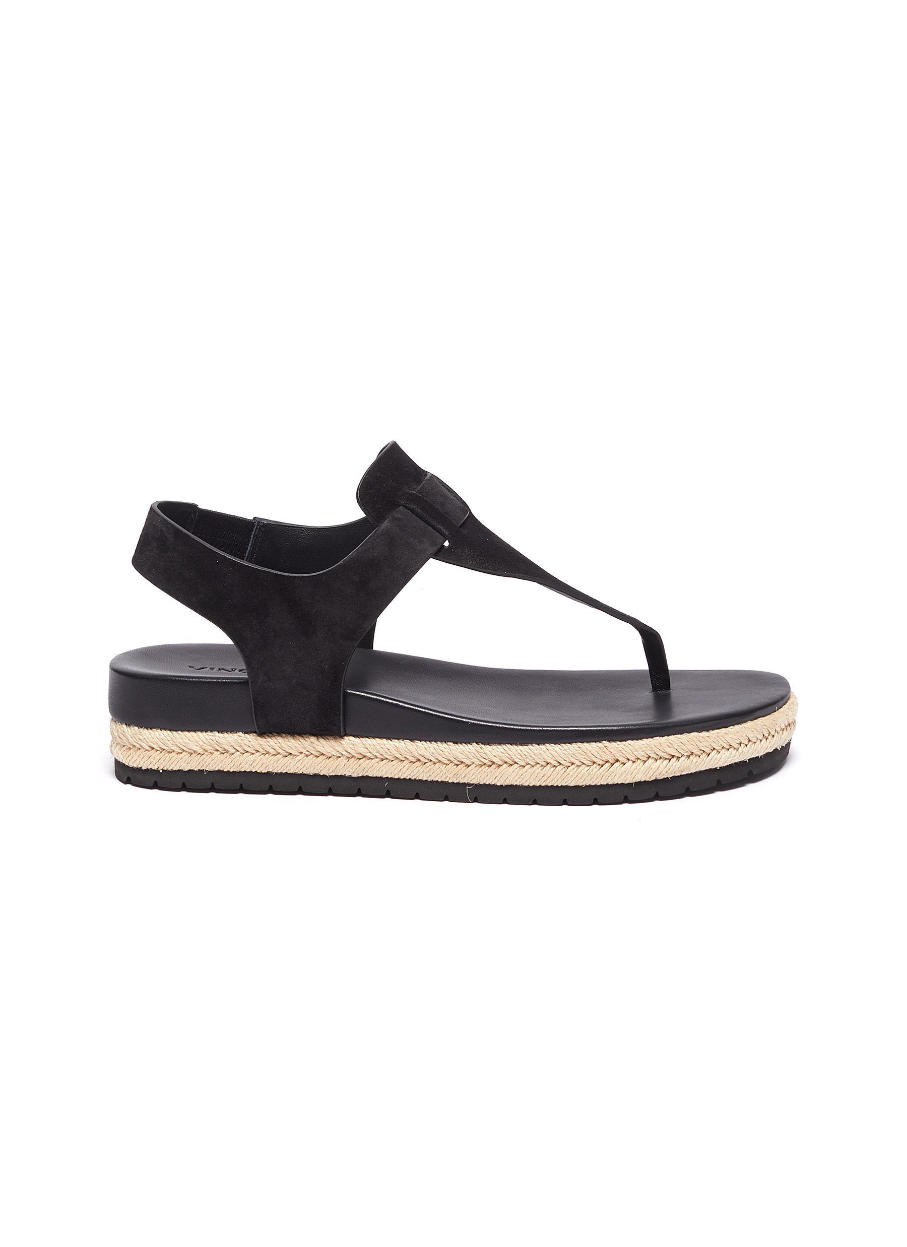 shop Vince 'Flint' T-Bar suede espadrille sandals online