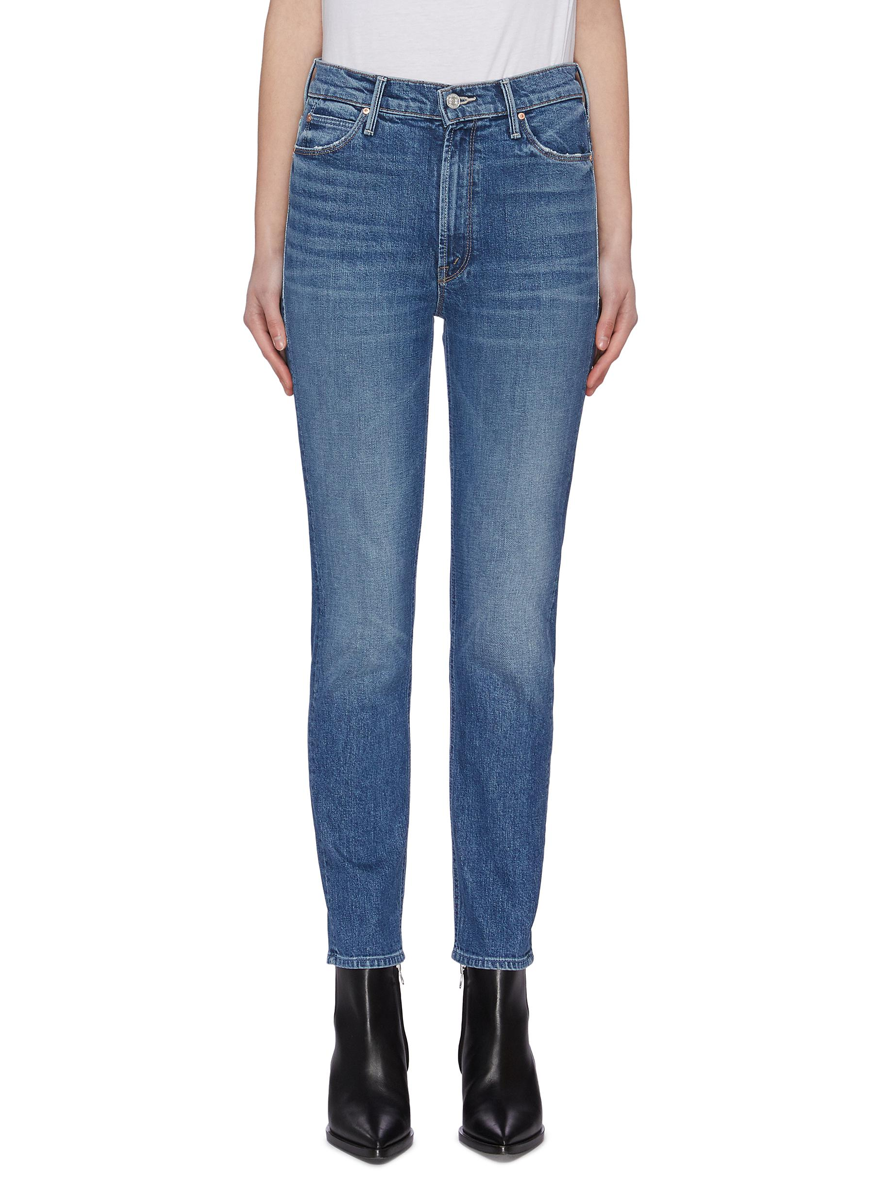 shop Mother 'The Dazzler MR' whiskering jeans online