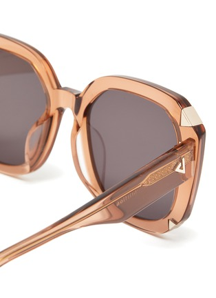 Detail View - Click To Enlarge - STEPHANE + CHRISTIAN - 'Moira' square acetate frame sunglasses