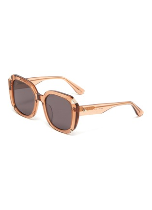 Main View - Click To Enlarge - STEPHANE + CHRISTIAN - 'Moira' square acetate frame sunglasses