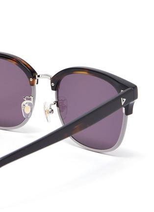 Detail View - Click To Enlarge - STEPHANE + CHRISTIAN - Rimmed horn tortoiseshell effect acetate frame sunglasses