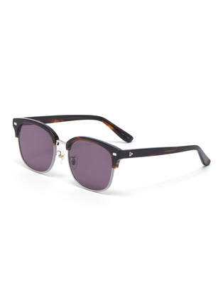 Main View - Click To Enlarge - STEPHANE + CHRISTIAN - Rimmed horn tortoiseshell effect acetate frame sunglasses