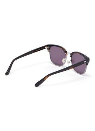 Figure View - Click To Enlarge - STEPHANE + CHRISTIAN - Rimmed horn tortoiseshell effect acetate frame sunglasses