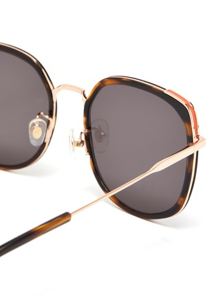 Detail View - Click To Enlarge - STEPHANE + CHRISTIAN - Rimmed horn acetate frame sunglasses