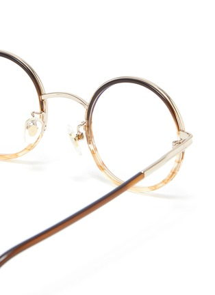 Detail View - Click To Enlarge - STEPHANE + CHRISTIAN - Round metal frame optical glasses