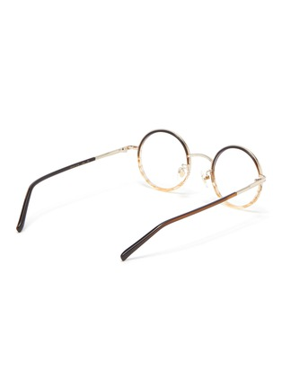 Figure View - Click To Enlarge - STEPHANE + CHRISTIAN - Round metal frame optical glasses
