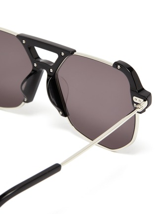 Detail View - Click To Enlarge - STEPHANE + CHRISTIAN - Angular acetate D frame optical glasses