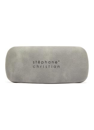 Detail View - Click To Enlarge - STEPHANE + CHRISTIAN - Rimmed horn acetate frame sunglasses